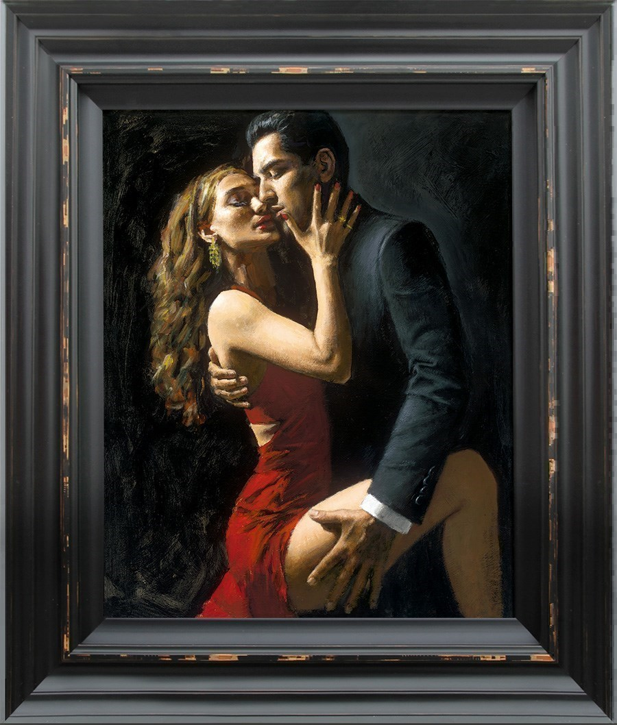 Tango en San Telmo III by Fabian Perez - Hand Finished Limited Edition on Canvas sized 18x24 inches. Available from Whitewall Galleries